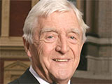 Michael Parkinson in a bow tie