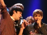 Klaxons at mercury awards 3