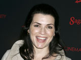Julianna Margulies jokes that life imitates storylines on her show The Good Wife.