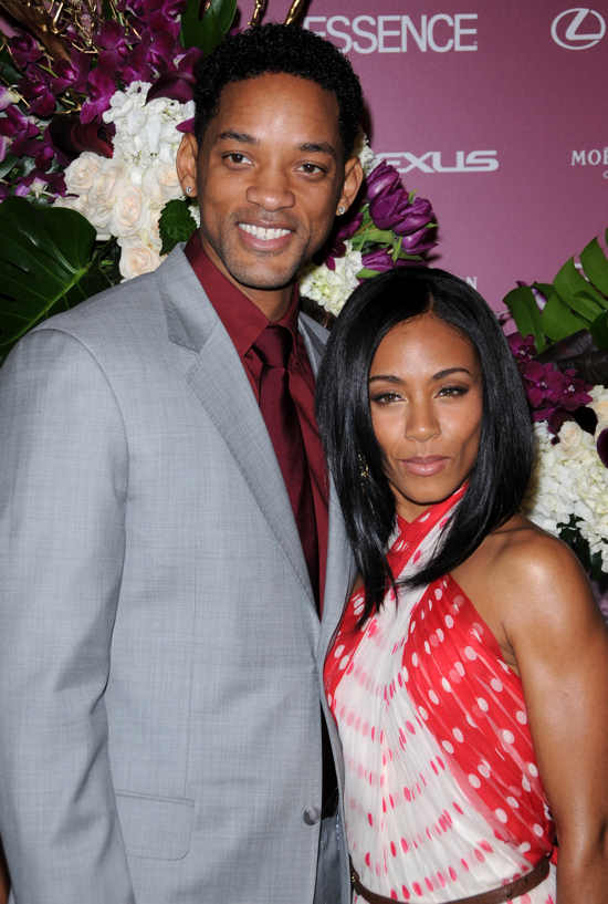 Will Smith and Jada Pinkett Smith at the first Annual Essence Black Women in Hollywood Luncheon at the Beverly Hills Hotel, Los Angeles.