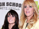 160x120 - Ali Lohan and Dina Lohan at Premiere of 'High School Confidential' in New York