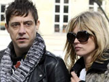 Kate Moss with boyfriend Jamie Hince