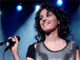 Katie Melua performing at Kongesowa Hall in Warsaw, Poland