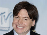 Mike Myers in the press room at the MTV Movie Awards 2008