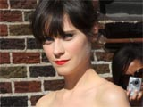 Zooey Deschanel appearing on 'The Late Night Show with David Letterman' in New York, America