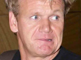 A slightly sweaty Gordon Ramsay arriving in Sydney airport