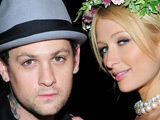 Benji Madden and Paris Hilton filming for MTV's Paris Hilton's 'My New BFF'