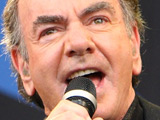 Neil Diamond on the Pyramid Stage at Glastonbury