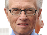 Larry King at the Larry King Square dedication at The CNN Building