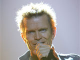 Billy Idol performs at the Manchester Apollo