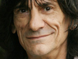 Ronnie Wood out walking near his rehab clinic in Old Woking