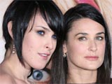 Rumer Willis and Demi Moore at 'The House Bunny' Film Premiere, in Westwood, Los Angeles, America