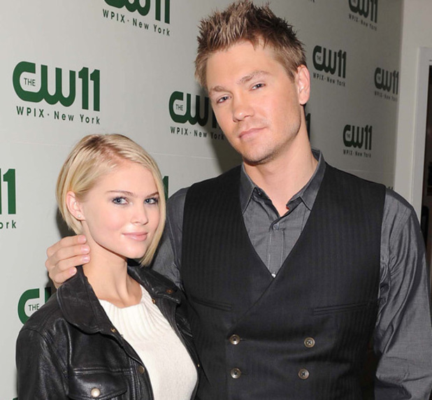 Chad Michael Murray with fiancee Kenzie Dalton on the 'CW11 Morning Show'