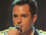 Brandon Flowers performs with the rest of The Killers on 'Later Live with Jools Holland'
