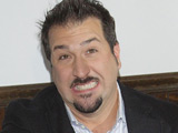 Joey Fatone becomes the 'King of the Throne' by performing the ceremonial first flush at The Charmin Restrooms in Times Square