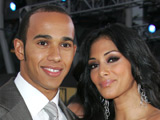 Lewis Hamilton and Nicole Scherzinger at the American Music Awards in Los Angeles