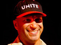 Tom Morello offers support for Wisconsin state employees picketing for collective bargaining rights.