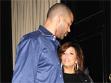 Tony Parker and Eva Longoria Parker leaving Beso Los Angeles, California