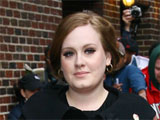 Adele outside the Ed Sullivan Theater for The David Letterman Show.