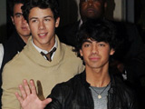 The Jonas Brothers leaving their Soho hotel for the 'Jonas Brothers in 3D' UK film premiere
