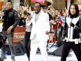 Black Eyed Peas performing live on the Today Show's Concert Series at Rockefeller Plaza, New York City