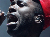 Bloc Party frontman Kele Okereke on stage at &quot;Rock Am Ring&quot; in Germany