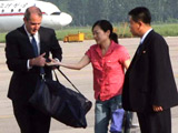 Laura Ling being released from North Korea
