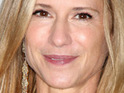 Actress Holly Hunter is believed to be getting married after being spotted wearing a diamond ring.
