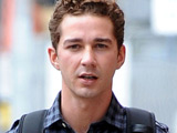 Shia LaBeouf on the set of 'Wall Street 2: Money Never Sleeps', New York City