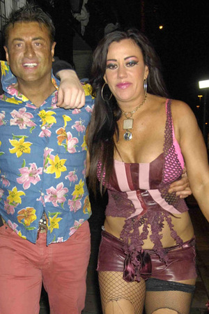Big Brother 9's Mario Marconi and Lisa Appleton appearing worse for wear as they appear outside a nightclub, Liverpool