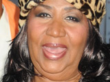 Aretha Franklin spends a night out with friends on 5th Avenue New York City