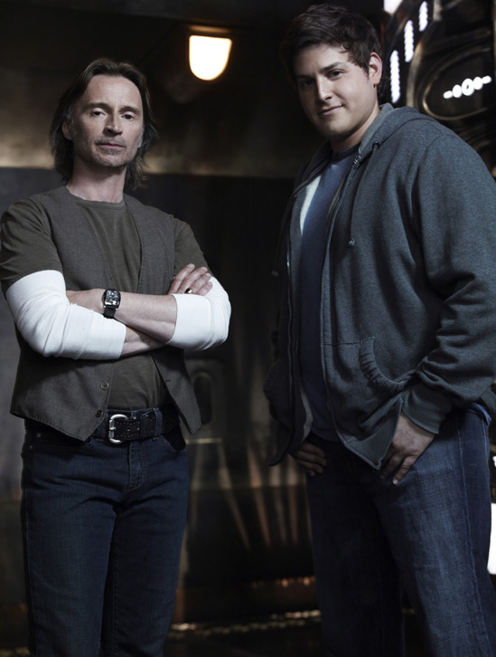 Stargate Universe Robert Carlyle and David Blue