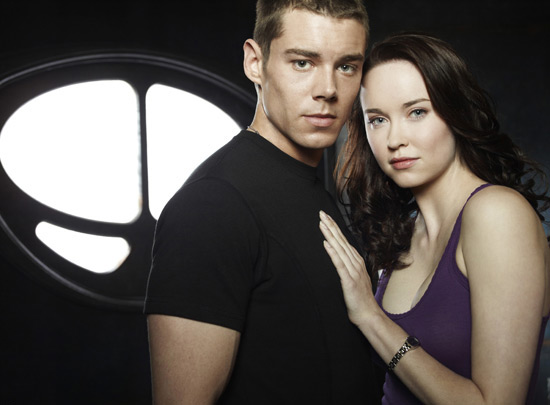 Stargate Universe Brian J Smith and Elyse Levesque