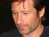 David Duchovny meeting with fans outside the El Capitan Theatre after appearing on 'Jimmy Kimmel Live!' Los Angeles