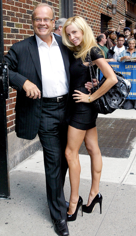 Kelsey Grammer and Camille Grammer outside the Ed Sullivan Theater for the 'Late Show With David Letterman' New York City