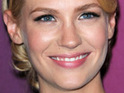 January Jones reportedly leaves the scene of a vehicle wreck in Los Angeles.