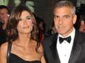 George Clooney says that he has not ended his relationship with Elisabetta Canalis.