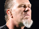 James Hetfield of Metallica performing live during their 'World Magnetic' Tour at the Air Canada Centre, Toronto
