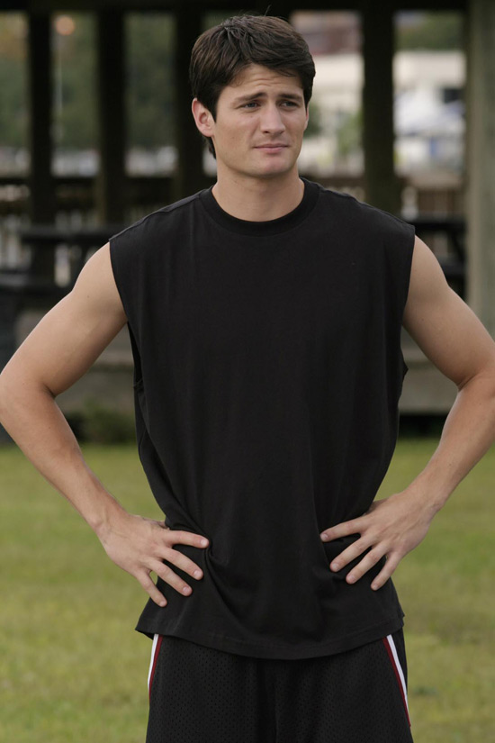 James Lafferty in sleevless top