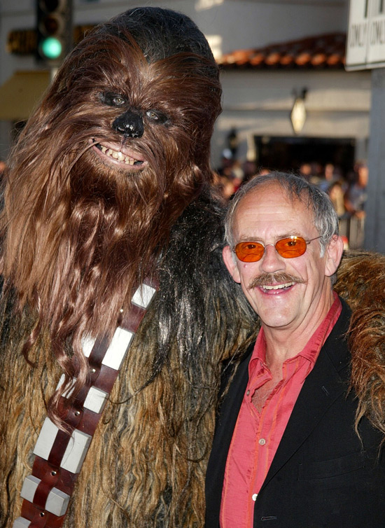Christopher Lloyd and Chewbacca