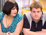 Nessa (Ruth Jones) and Smithy (James Corden) in Gavin & Stacey