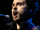 Jared Leto of 30 Seconds To Mars play The KROQ Almost Acoustic Christmas Concert held at the Gibson Amphitheatre Los Angeles, California.
