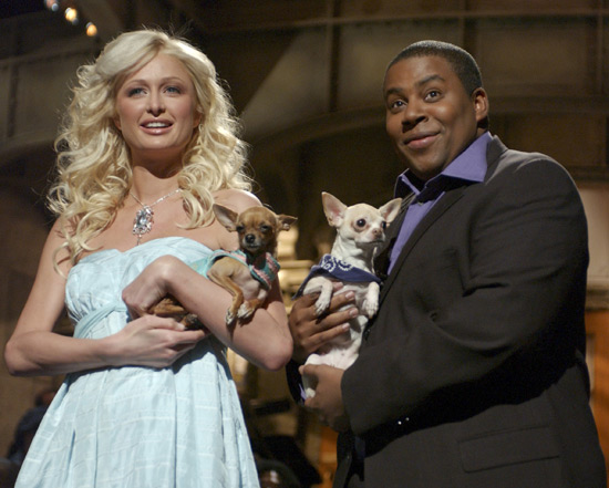 Paris Hilton and Keenan SNL