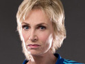 Jane Lynch says that she was thrilled to sing with Glee guest star Olivia Newton-John.