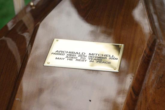 Archie's coffin