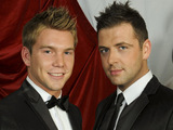 Mark Feehily and boyfriend Kevin McDaid