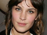 Alexa Chung attends a show during New York Fashion Week.