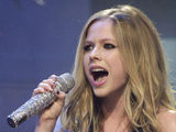 Avril Lavigne performing her new song off of the 'Alice' soundtrack on 'The Tonight Show with Jay Leno,' Los Angeles, America