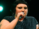 Beth Ditto from The Gossip perform a live showcase at Flèche d'Or. Paris, France.