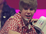 Justin Bieber at German TV station RTL2 music show The Dome 53 at Velodrom - Show. Berlin, Germany.